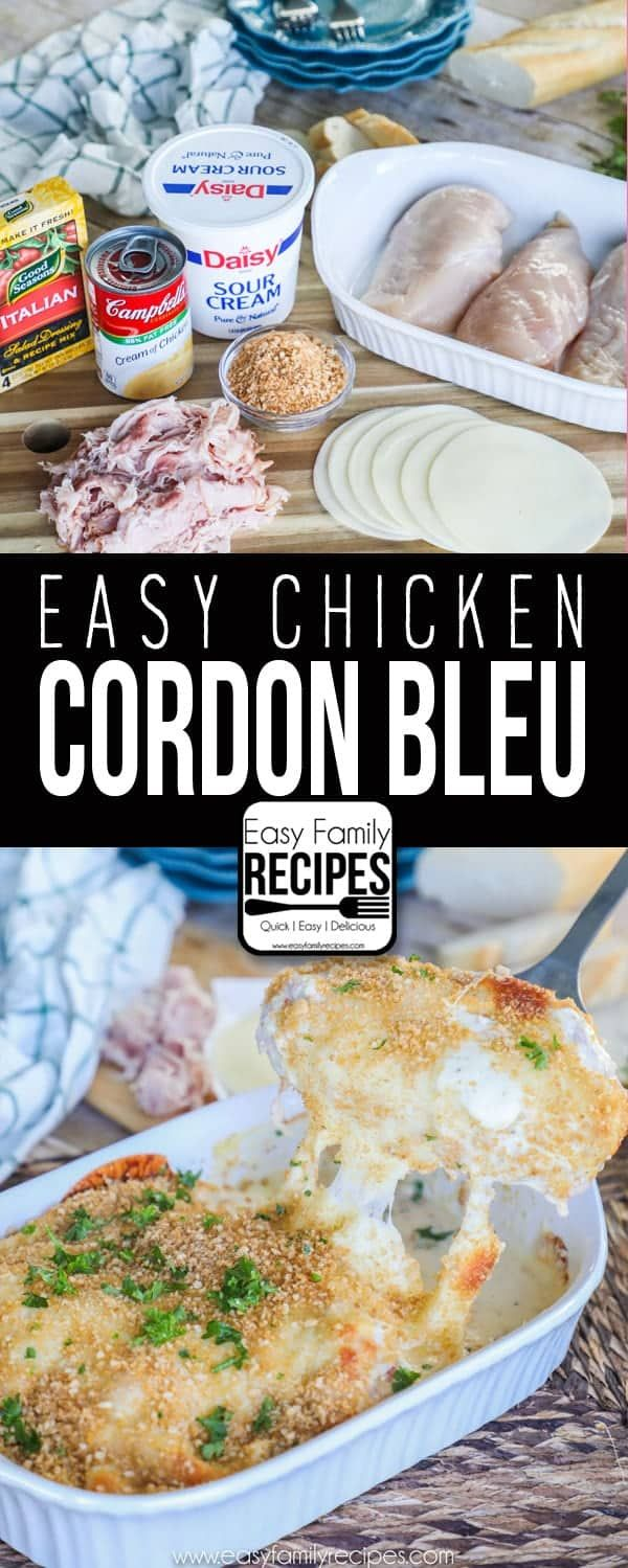 Chicken Cordon Bleu Casserole · Easy Family Recipes