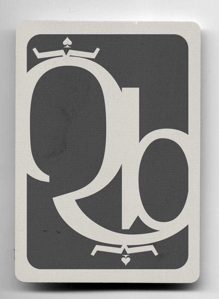reina de picas (elemental). baraja tipográfica