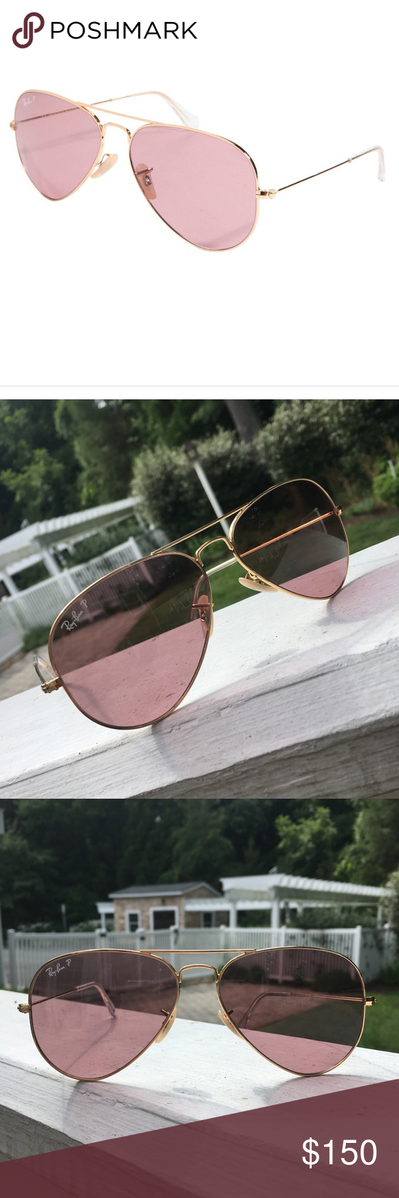 3de01478ca6bf Ray-Ban Aviator Polarized Pink and Gold Frame Ray-Ban RB3025 001 15