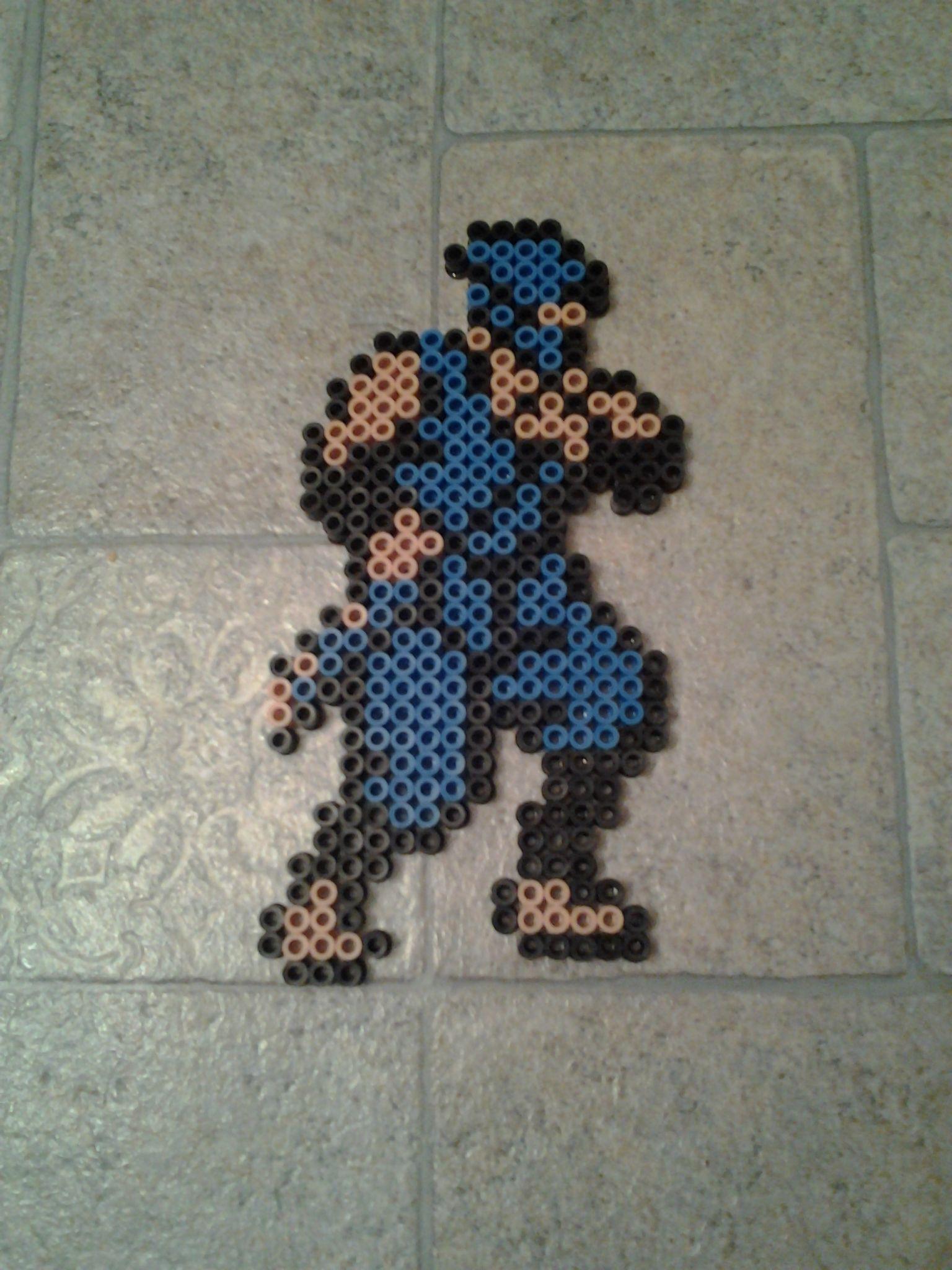 Ninja Gaiden Perler Bead Art Sam. Beads