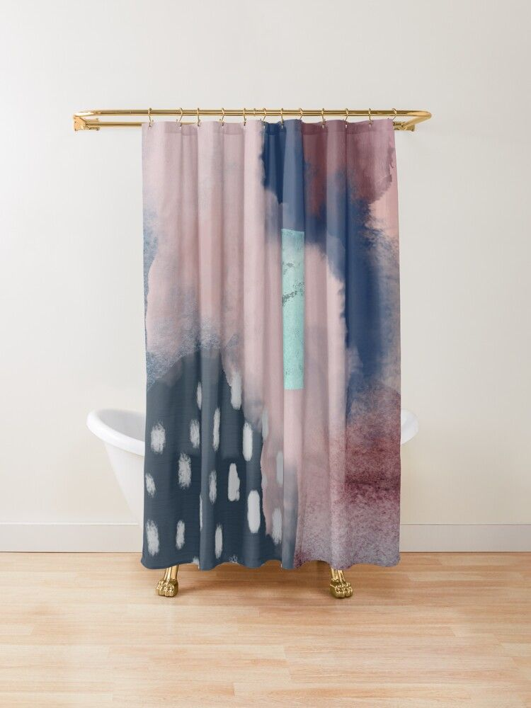 Floating Shower Curtain In 2020 Mint Green Shower Curtain