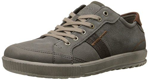 a9bdb11de4 ECCO Men's Ennio Retro Sneaker Fashion Sneaker, Warm Grey/Cognac, 44 ...