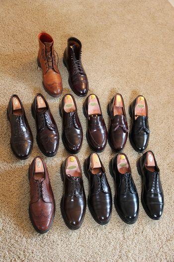 StyleForum member bucksfan's shoe collection.