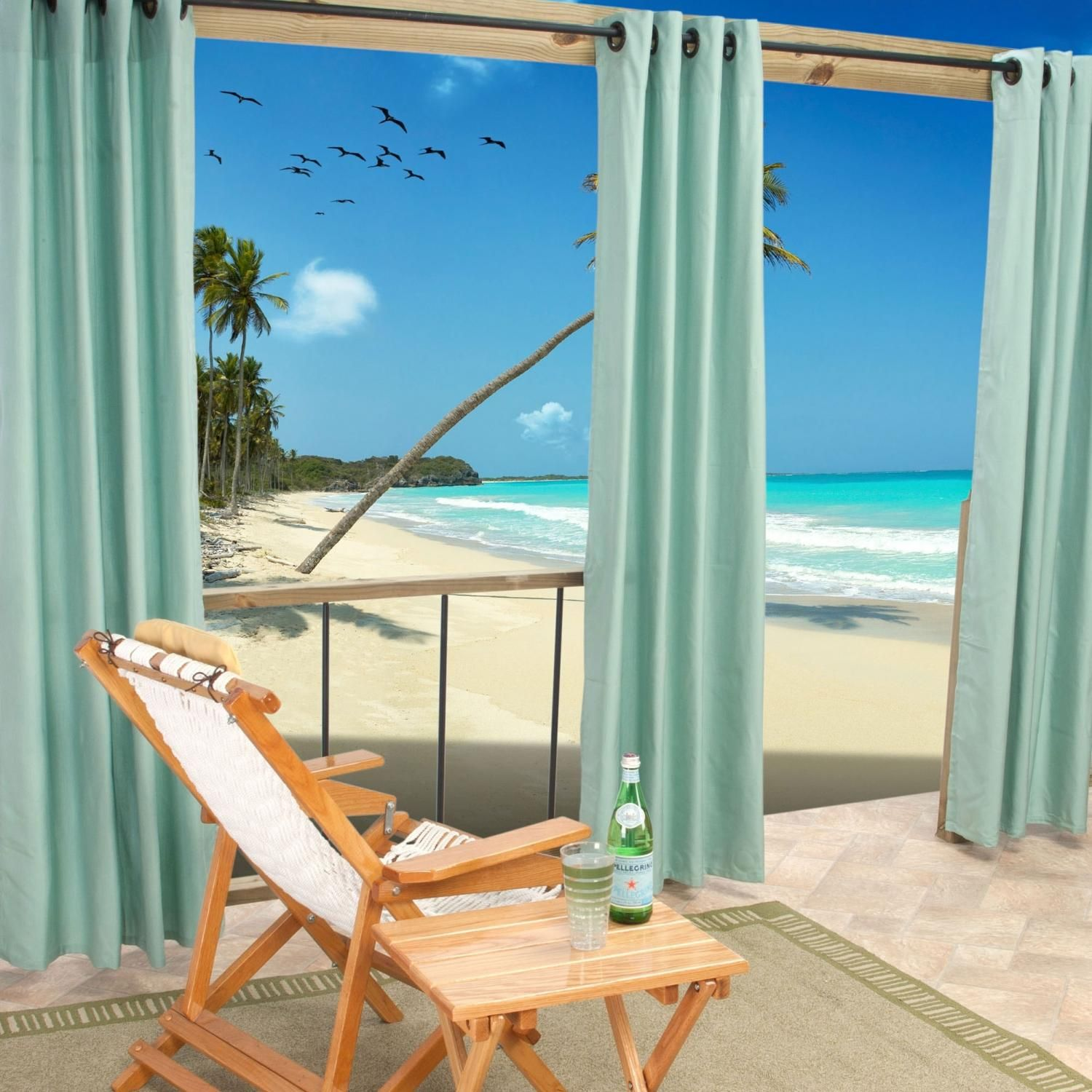 Sunbrella Outdoor Curtain With Grommets By Hatteras Outdoors 50