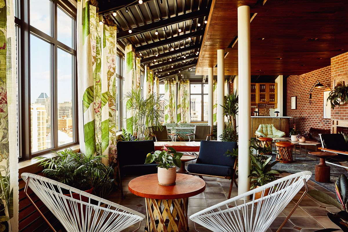 Secluded Oasis Nestled Within Topside The Garden Room It S A Breath Of Fresh Air With A Secret Garden Feel And Tropical Lu Baltimore Hotels Best Rooftop Bars