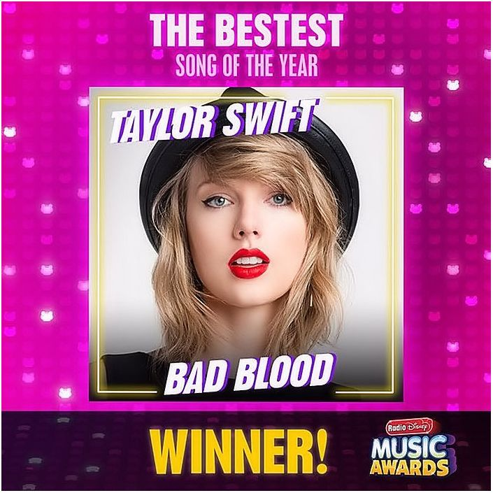Taylor won three Radio Disney Music Awards!  - Song of the Year  - Most Talked About Artist  - Best Breakup Song
