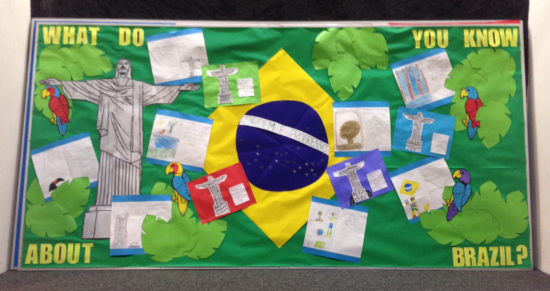 Brazil Themed Bulletin Board
