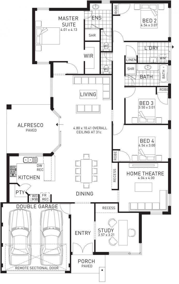 Southern single storey floor plan wa outstanding house plans