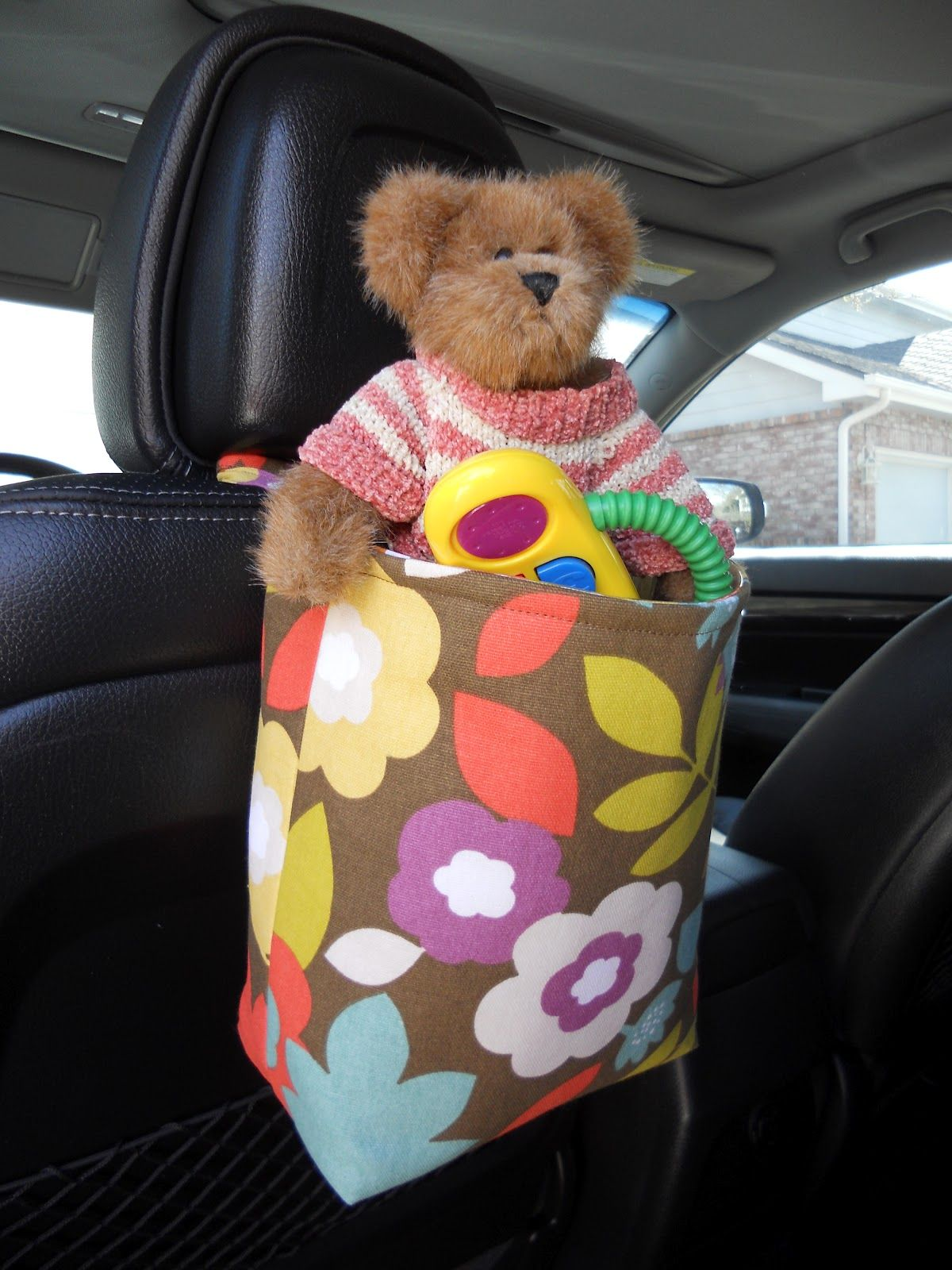 Een Tas Voor Speelgoed In De Auto Naai Ideeen Speelgoed Tassen