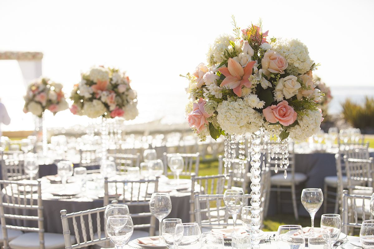 Destination Wedding with Coral, Ivory & Grey Color Scheme in Mexico ...