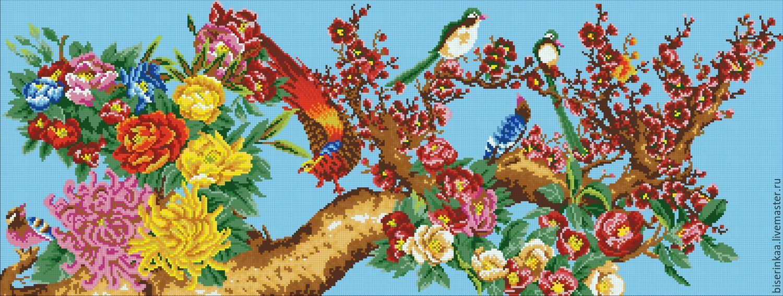 Вышивка бисером картины птицы