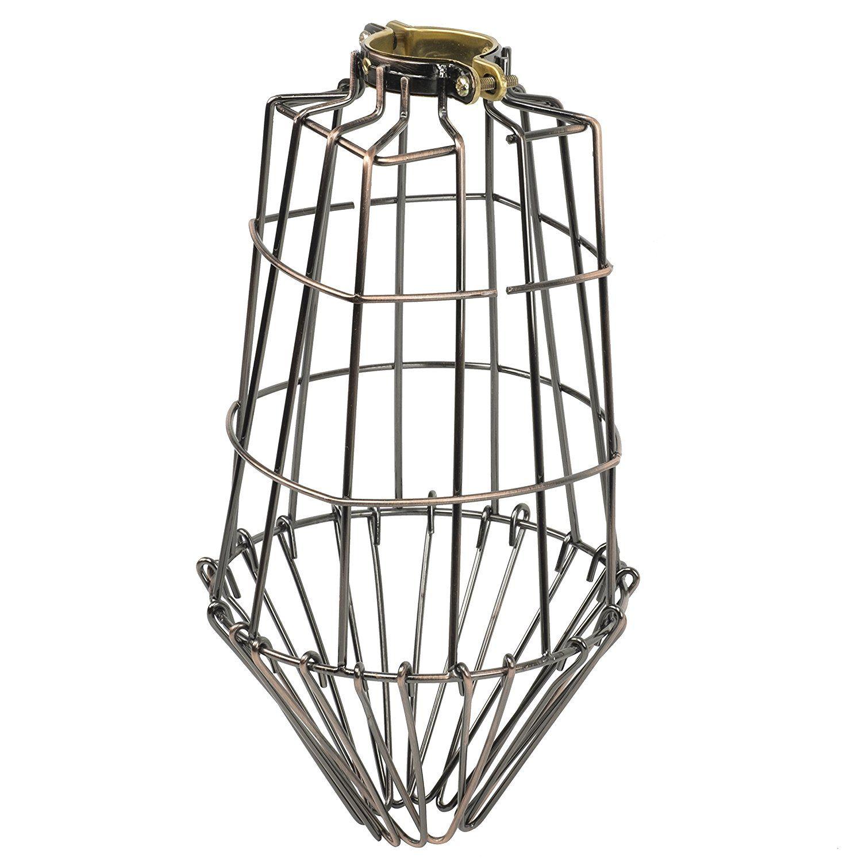 Industrial Vintage Style Bronze Hanging Pendant Light Fixture Long ...