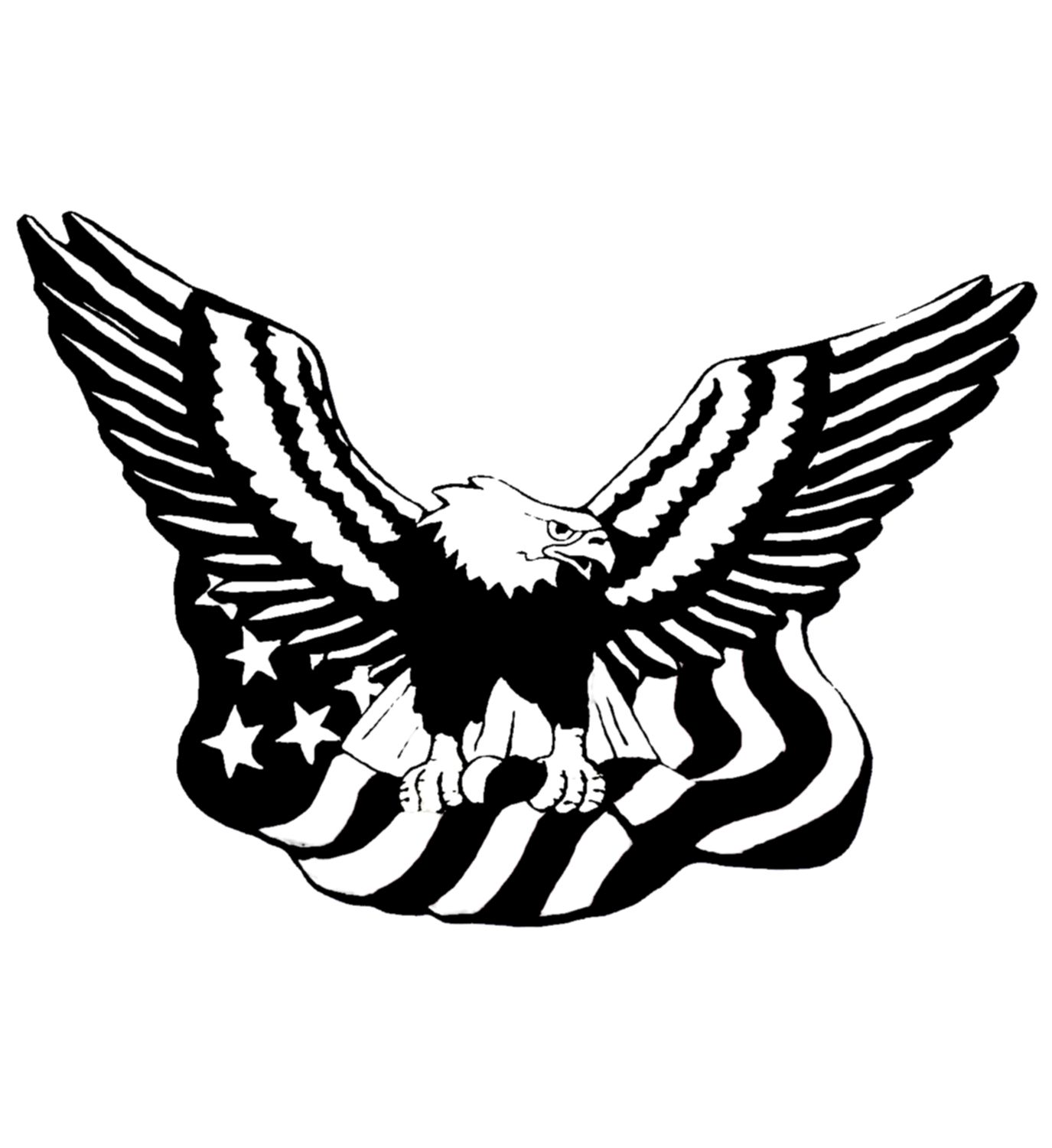 Eagle Flag Logo Personalized Koozies Pattern Art Flag Coloring