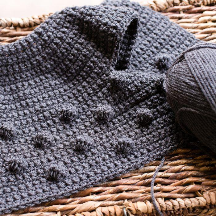 Bobble Baby Cardigan Crochet Pattern #crochetbabycardigan