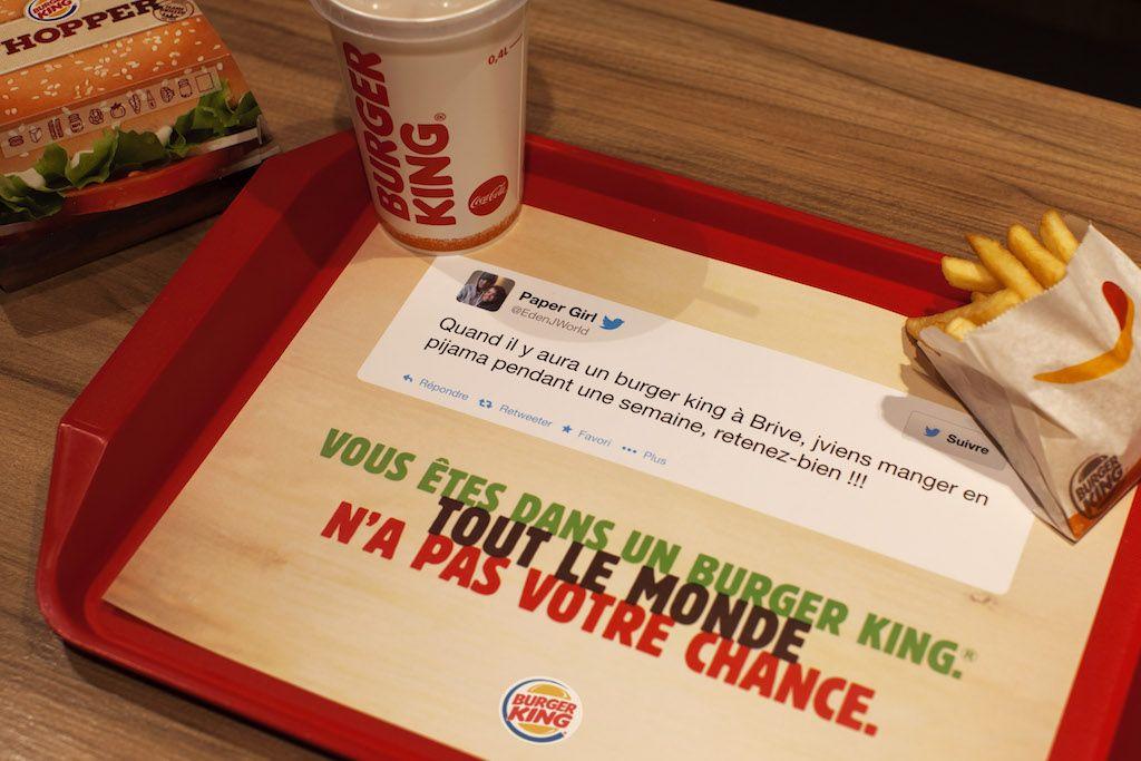 L Amusant Coup De Com De Burger King Sur Les Sets De Table De Ses