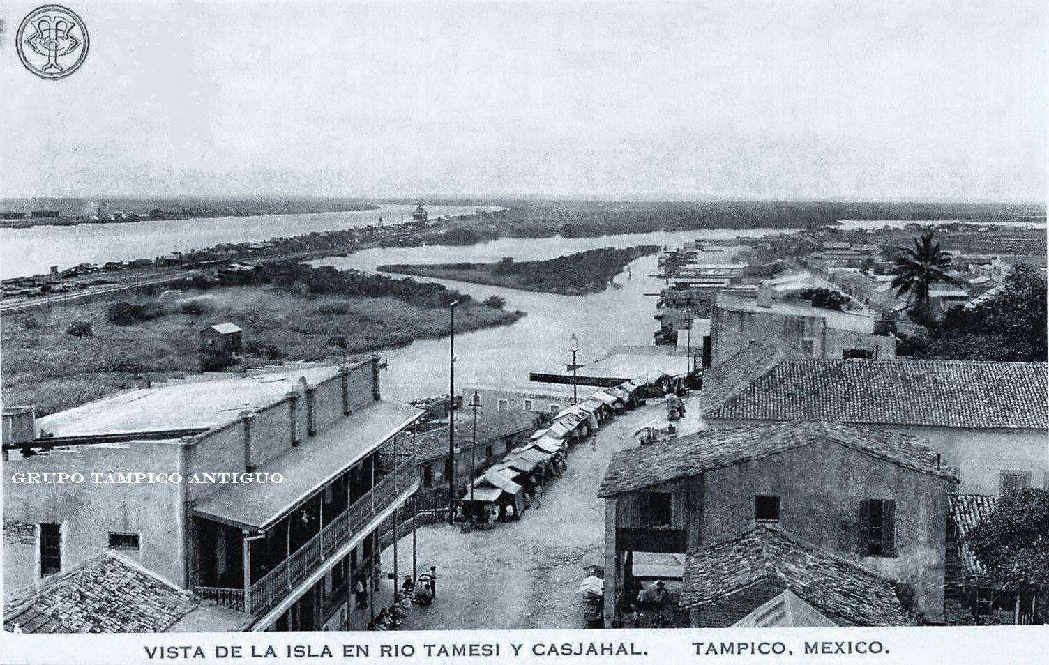 Vista del Cascajal y Rio Tamesí y el Rio Panuco