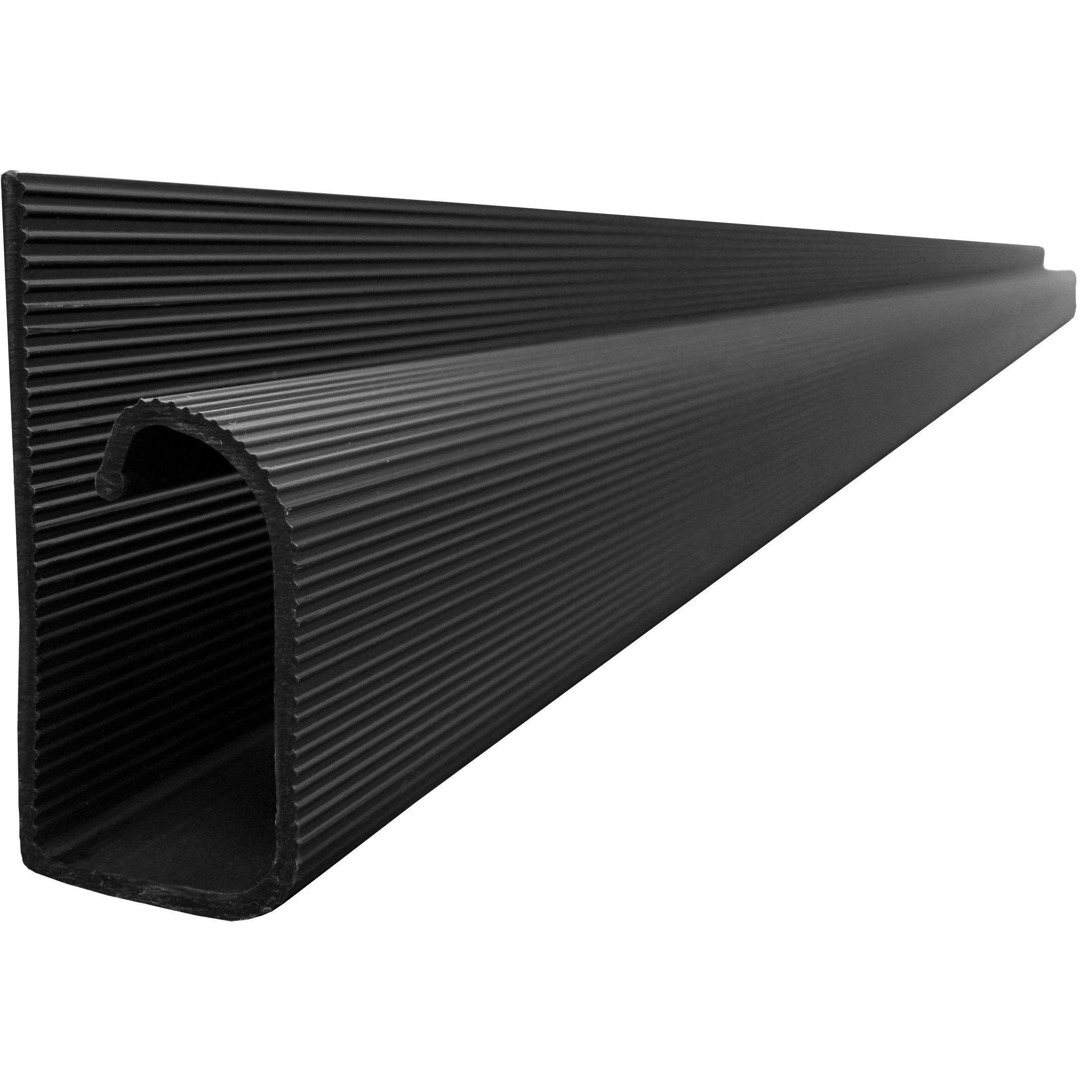 Amazon Com J Channel Cable Raceway Black 48 Length Electronics Cord Organization Cord Management Hide Cables