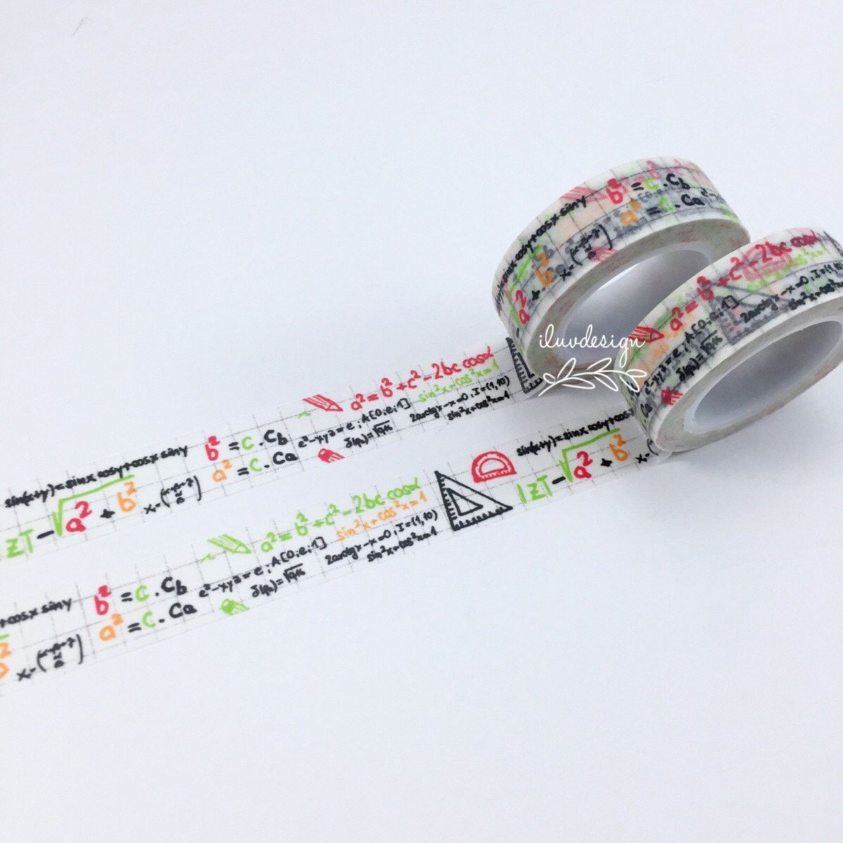 Math Washi Tape Mathematics Decorative Tape