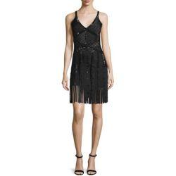 Herve Leger Fringe-Hem Embellished Knit Bandage Dress, Black buy online >>>$$price $2,890.00 At : Top10dresses #Herve-Legerdress #Herve #Leger #Fringe-Hem #Embellished #Knit #Bandage #Dress #Black #buy #online
