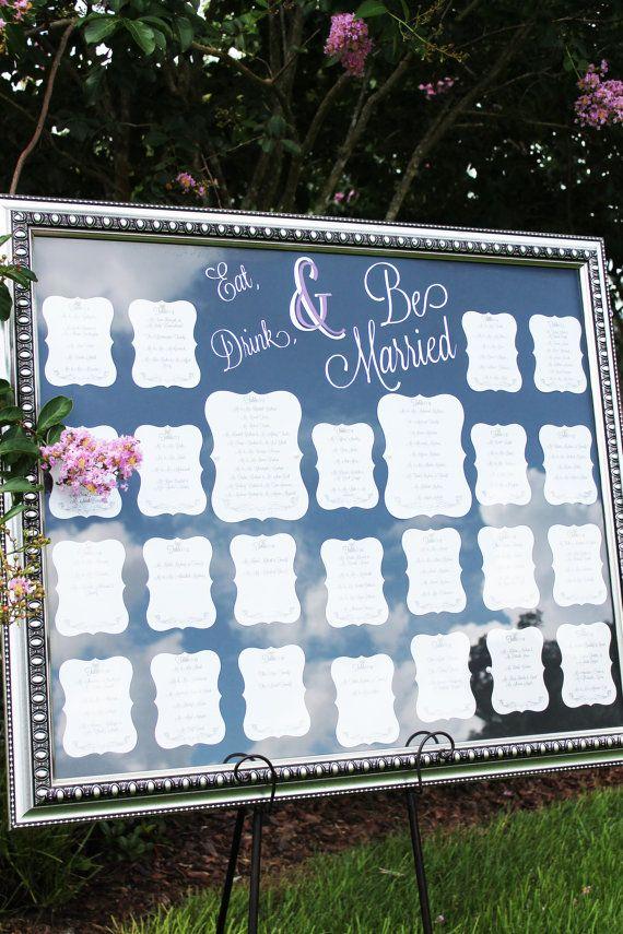My purple wedding Elegant Table Seating Chart for