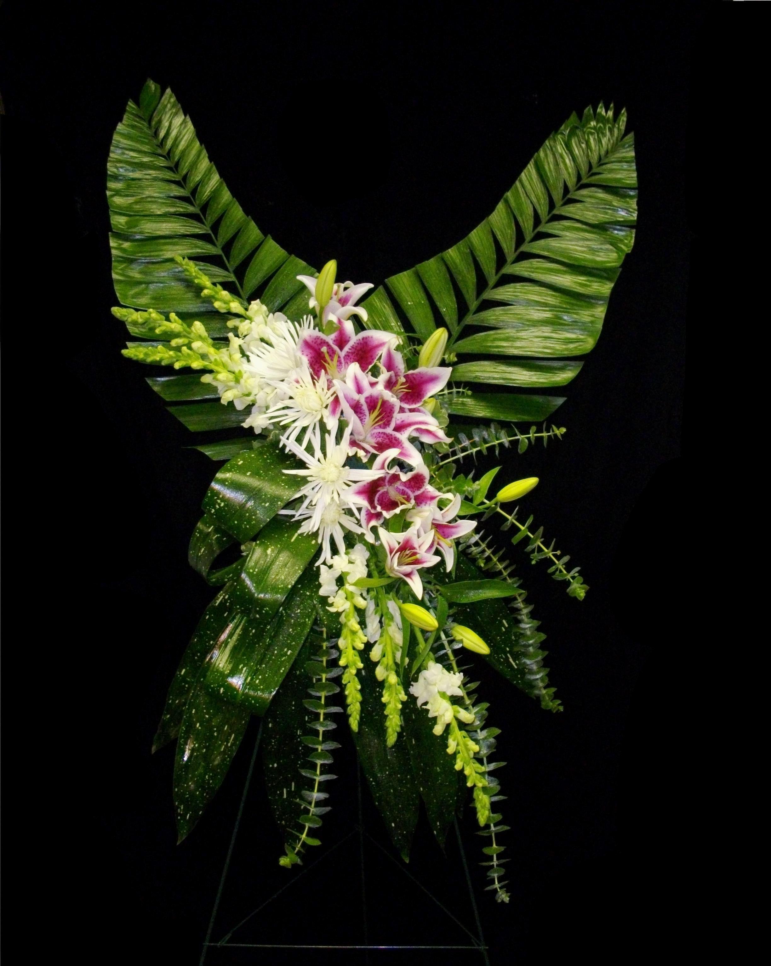 Angel wings standing spray aifd pinterest angel wings funeral angel wings standing spray funeral arrangementsflower izmirmasajfo