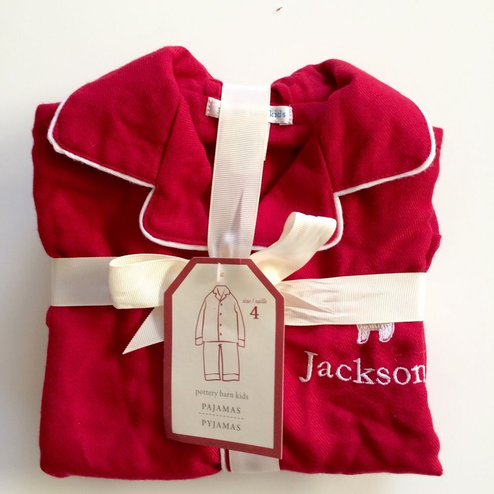 Red flannel pajamas  Pottery Barn Kids Red Flannel Pajamas Size  Jackson New pc Set