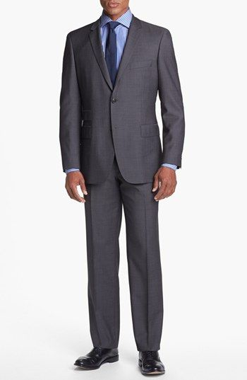 BOSS HUGO BOSS 'Edison/Power' Classic Fit Wool Suit available at #Nordstrom