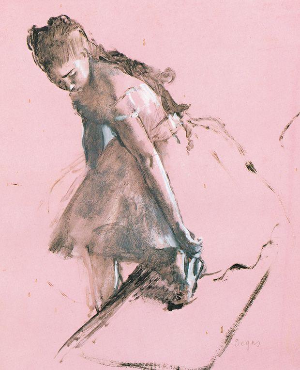 Dancer slipping on her shoe by Edgar Degas Giclee Fine Art Print Repro on Canvas