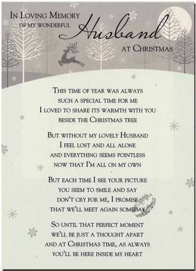 Missing My Husband At Christmas Quotes: Grave Card / Christmas