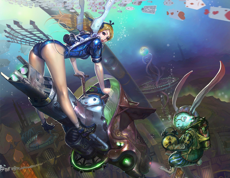 Underwater iphone wallpaper tumblr - Alice Steampunk Fantastic World Underwater World Fantasy Sci Fi Wallpaper Background