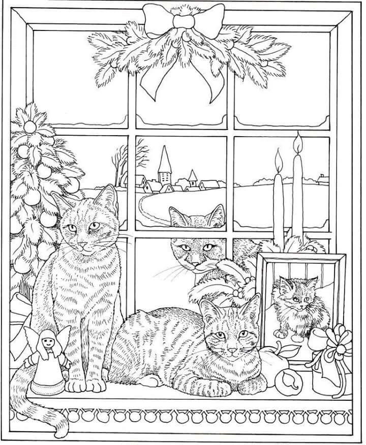 Pin de Lori Dumke en coloringbook | Pinterest | Gato y Pinturas