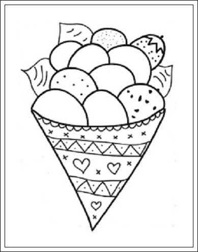 ijsje kleurplaten thema kleuter