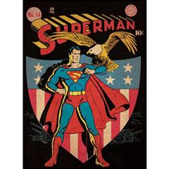 Patriotic Superman wall decal #DC