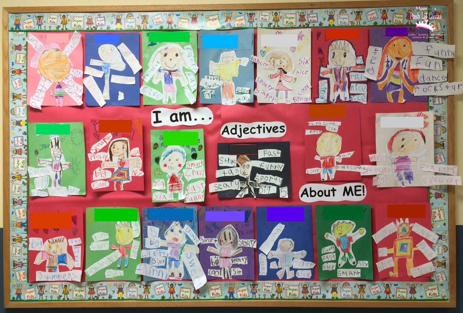 Adjective Me Activity In Kindergarten