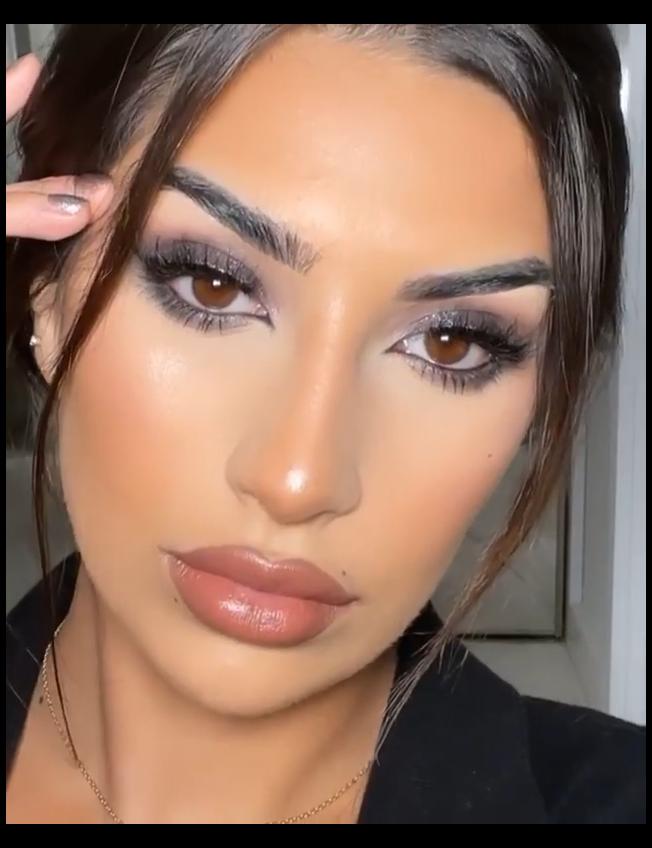 makeup looks natural brown eyes black COOL TONED M