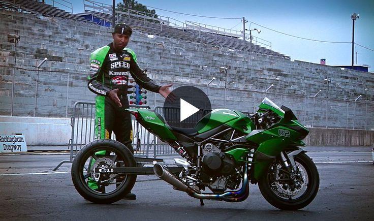 Video Dragstrip Rip Rickey Gadson On His Supercharged Kawasaki