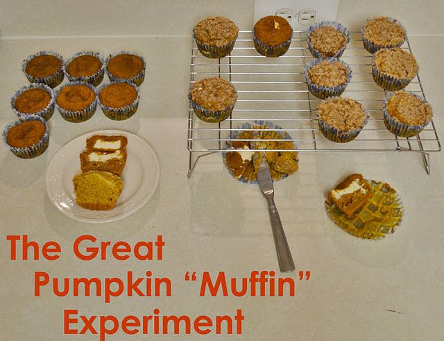 pumpkin muffins with cream cheese filling, mmm good
