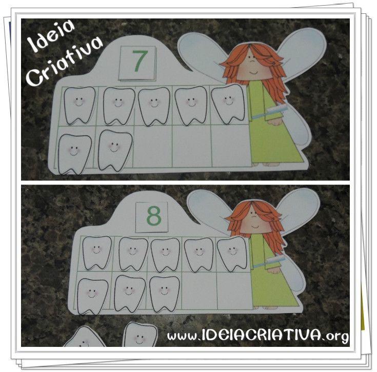 Muito Atividade Matemática Fada do Dente Educação Infantil Quadro de dez  VO21