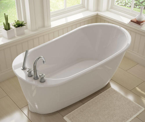 Maax Sax 60 X 32 White Freestanding Bathtub In 2020 Free Standing Bath Tub Soaker Tub Free Standing Free Standing Tub