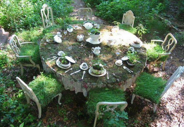 Gartenideen Zum Selber Machen Nostalgie Esstisch Stühle