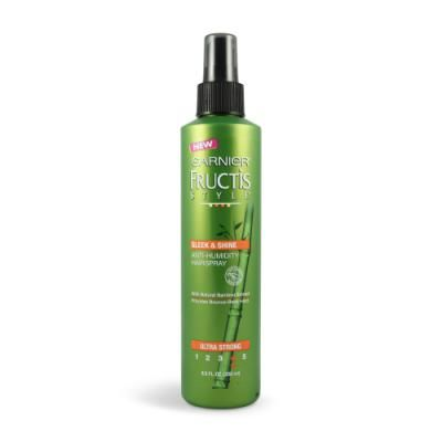 Case Of Garnier Fructis Style Sleek Shine Anti Humidity Hairspray Ultra Strong8 5 Anti Frizz Products Anti Humidity Hair Spray Citrus Scent