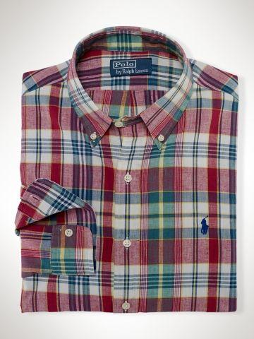 53ab71a5 Slim-Fit Madras Shirt - Polo Ralph Lauren  PRL/Men/Sport_Shirts/Slim_Fit/Sale - RalphLauren.com