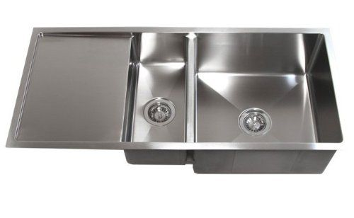 42 Inch Stainless Steel Undermount Double Bowl Kitchen Sink With Drain Board Cbath Http Www