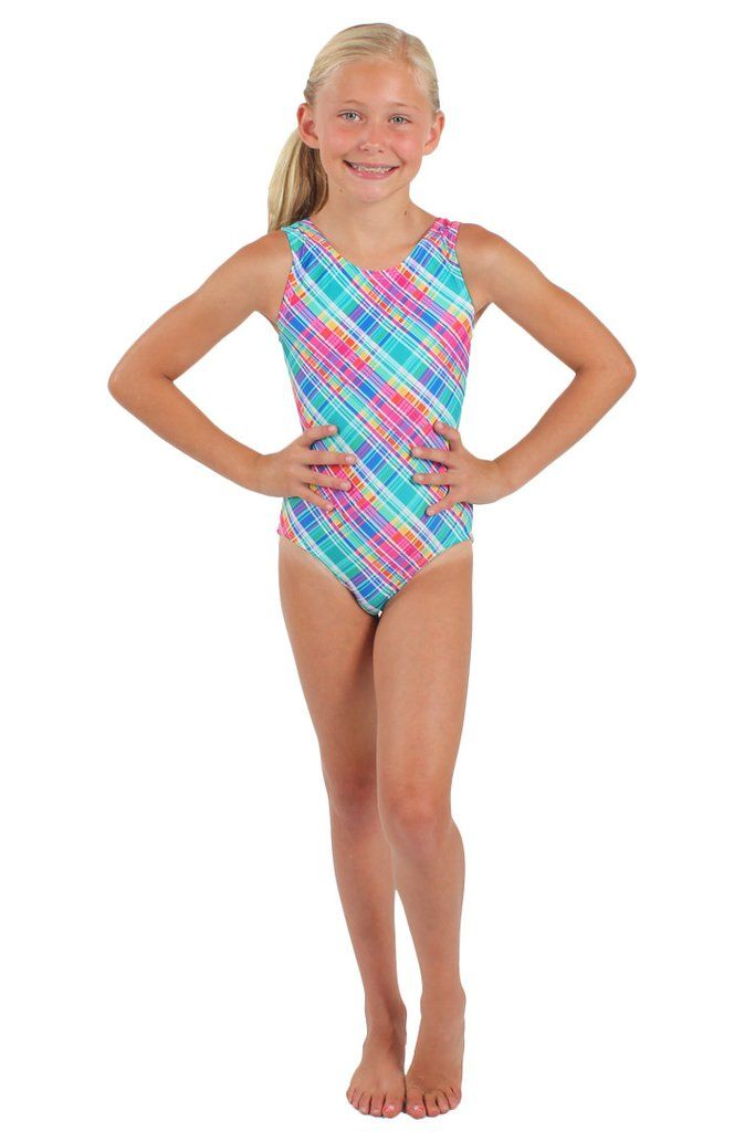Tank style gymnastics leotard Slightly lower neckline in the back  Comfortable sleeveless fit perfect for gymnastics 459e104958e