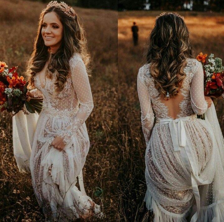 35 Breath-taking Boho Wedding Dresses Can't Miss #spanishthings