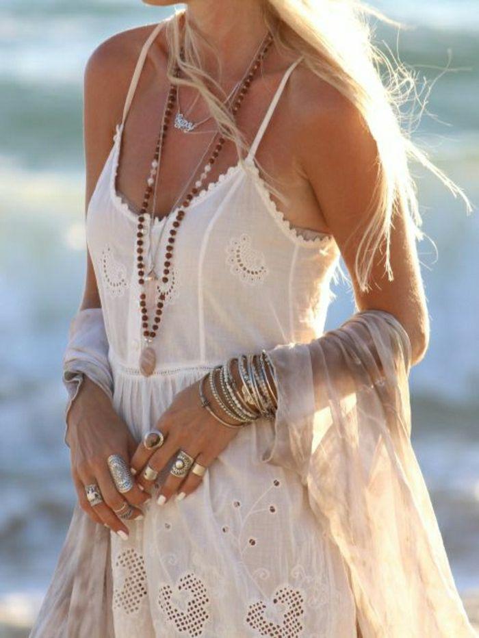 Kleider hippie lange weiße Hippie Kleider