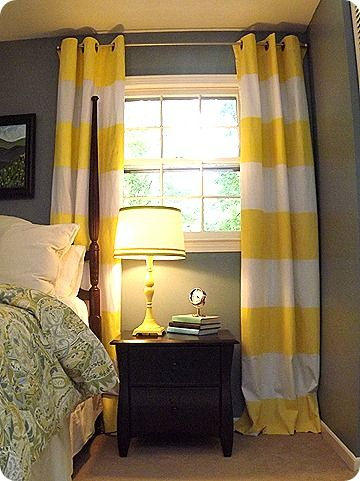 Marvelous Paint Fabric · Could Striped Curtains ...