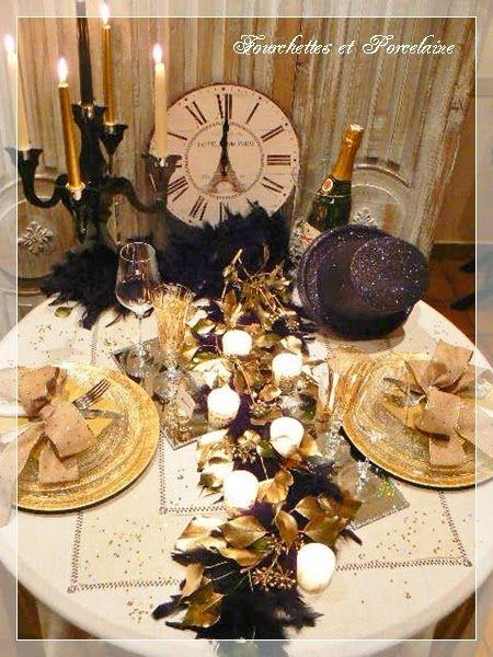 fourchettes et porcelaine: table reveillon jour de l'an 2015