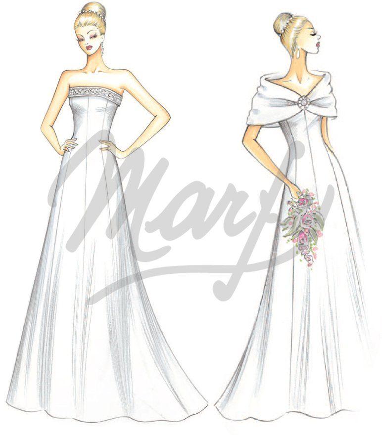 wedding dress pattern S0139 | svatební | Pinterest | Traje novio ...
