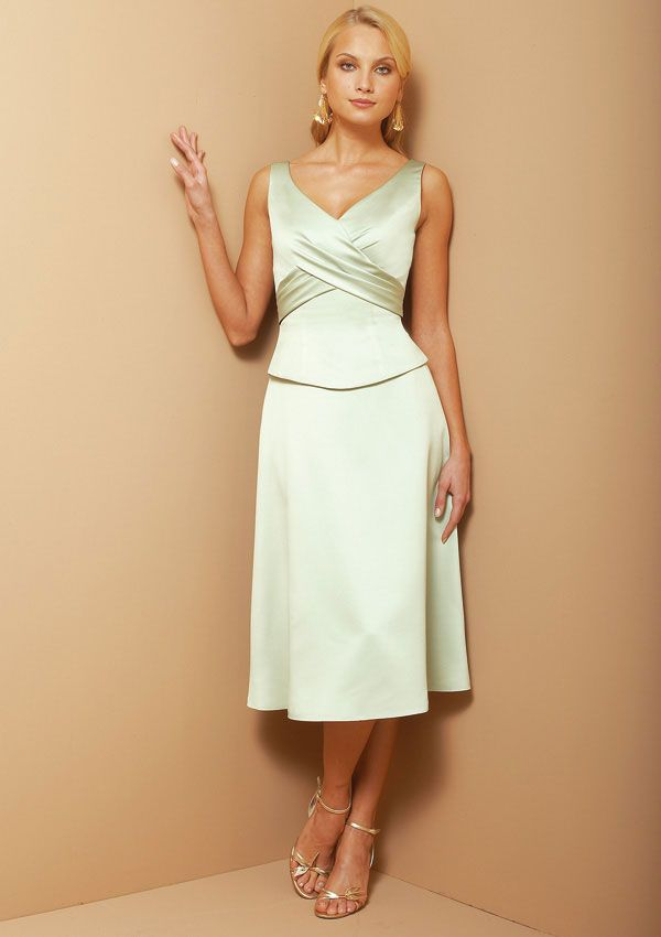 Calf length bridesmaids dresses calf length bridesmaid for Calf length wedding dresses